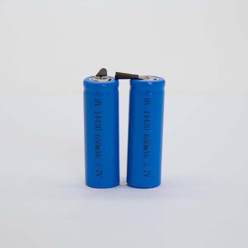 锂电池HY14430/650mAh   (电动牙刷专用)