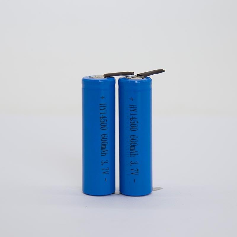锂电池HY14500/600mAh   (电动牙刷专用)